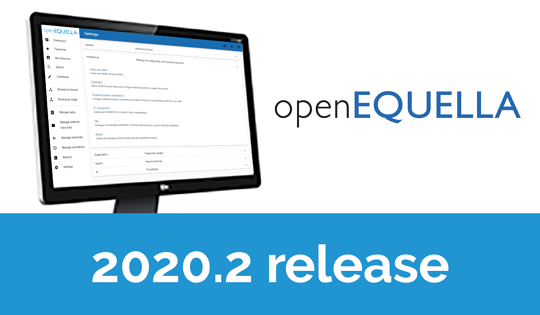 openEQUELLA 2020.2 released, features New Search User Interface