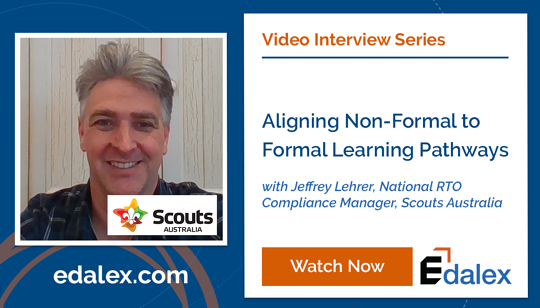 Jeffrey Lehrer - Aligning Non-formal to Formal Learning Pathways - Edalex Video Interview