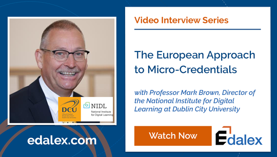 The European Approach to Micro-Credentials - Edalex Video Interview