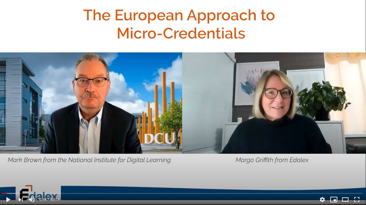 The European Approach to Micro-Credentials with Professor Mark Brown - Edalex Video Interview Series